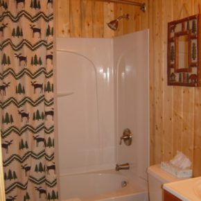 bathroom in cabin.