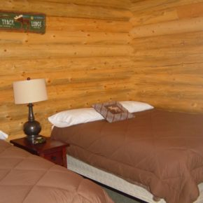 bedroom in cabin.