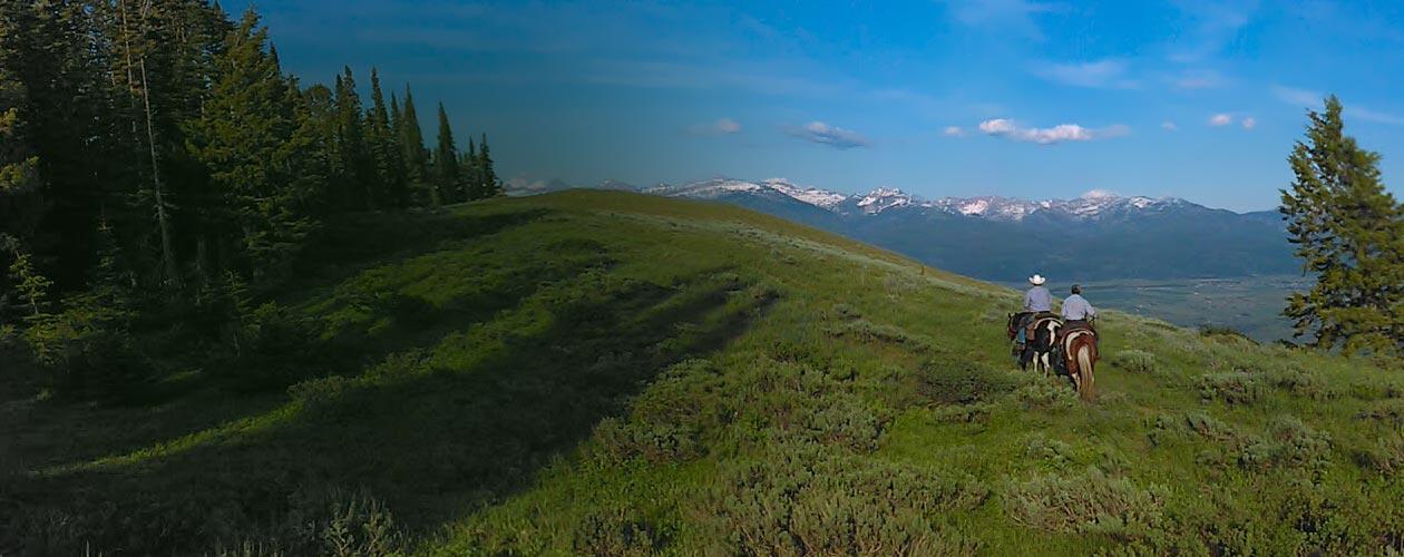 horse ride in beautiful mountainous tarrain in East Idaho.